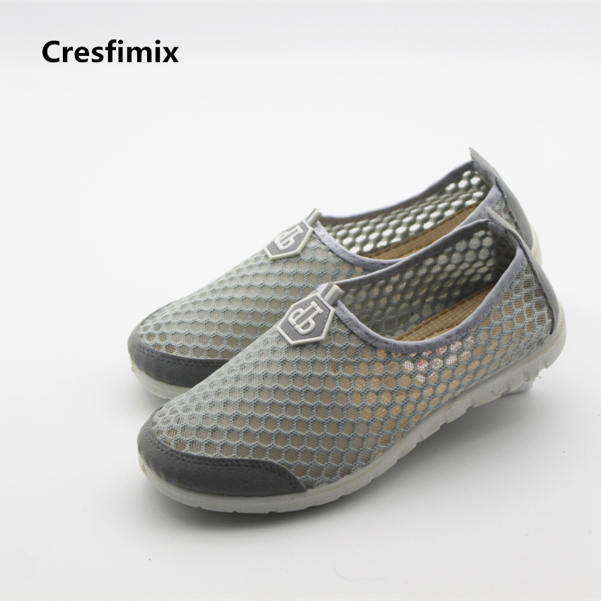 Cresfimix women's casual vulcanize shoes lady spring and summer slip on shoes female breathable light weight mesh shoes zapatos women cool mesh breathable shoes female sport and outdoor soft bottom shoes lady casual slip on shoes zapatos de mujer