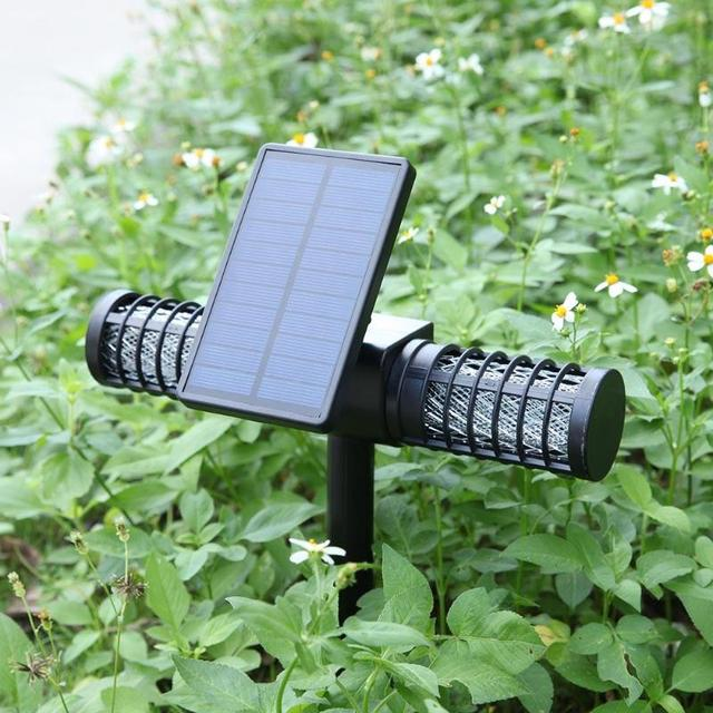 Solar Powered Mosquito Killer environmentally LED UV Night Lamp Outdoor Garden Insect Pest Bug Zapper Mosquito Killer Lamp 4