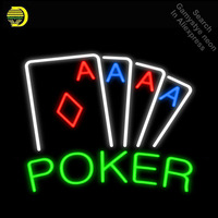 Buy Neon Signs for your Casino Poker Game room Handmade Glass tube neon light for sale Advertise lights Super Bright