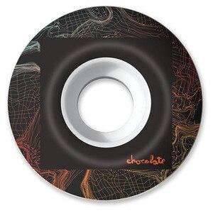 Image 2 - Roues de planche à roulettes graphiques de chocolat de marque des etats unis 51/52/53/54/55mm roues de patin dunité centrale route de rue quatre roues planche à roulettes