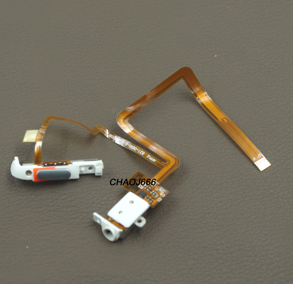 Black White Headphone Jack Audio Jack with Hold Switch Flex Ribbon Cable for iPod 5th gen iPod 5th Video 30GB(China)