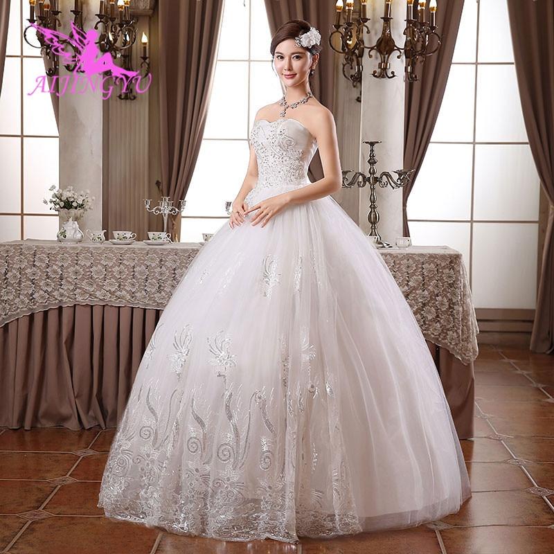 AIJINGYU Wedding Dresses Ball Gown Elegant Bridal Dress WK434