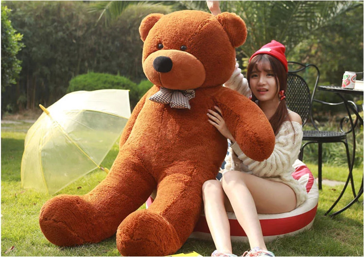 Free shipping lovely giant teddy bears stuffed animal /big bear plush toy/large teddy bear/huge teddy bear 90cm giant teddy bear soft toy 160cm large big stuffed toys animals plush life size kid baby dolls lover toy valentine gift lovely