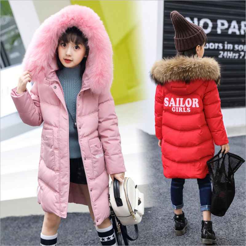6-15 Years Children Girls Winter White Duck Down Coat Jackets 2018  New Fashion Hooded Thicken Keep Warm Outerwear  6-15 Years Children Girls Winter White Duck Down Coat Jackets 2018  New Fashion Hooded Thicken Keep Warm Outerwear