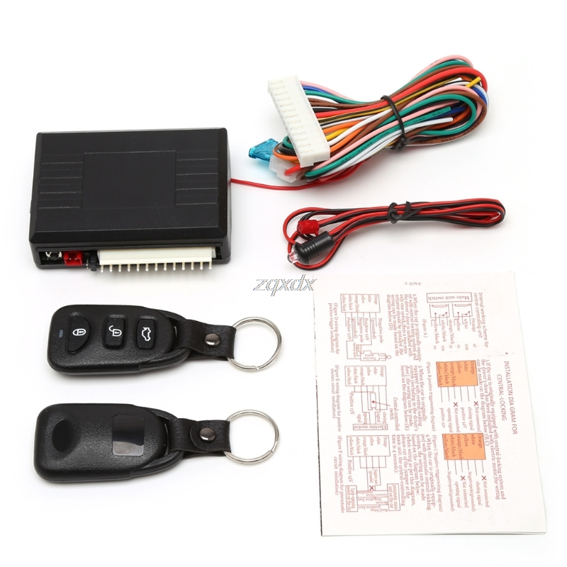 Universal Car Alarm Systems Auto Remote Central Kit Door Lock Vehicle Keyless Entry System Central Locking with Remote Control Z цена и фото