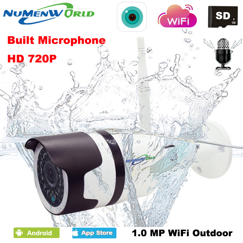 New Style Waterproof IP camera 720P Wireless Audio P2P wifi network IP Cam IR Outdoor CCTV Camera with External SD slot recorderNew Style Waterproof IP camera 720P Wireless Audio P2P wifi network IP Cam IR Outdoor CCTV Camera with External SD slot recorder