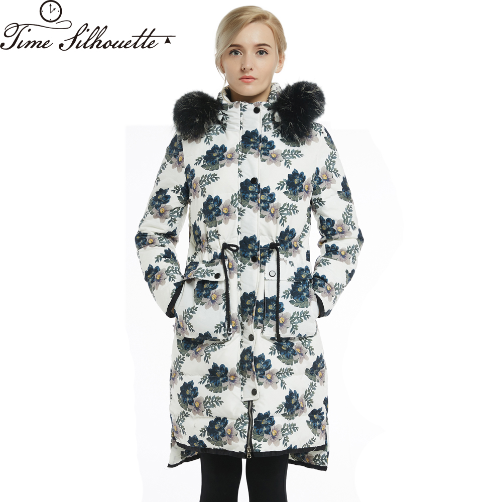 Clearance Sale Womens   Down   Jackets Brands Long   Down     Coats   Women Parkas Fashion Floral Doudoune Femme Chaqueta Mujer L211