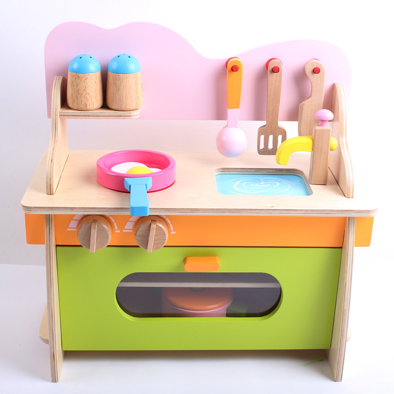Baby Kid cooking Toy set Wooden Play simulation Kitchen toy for children Pretend Play wooden toy food Tools set pink mother garden high quality wood toy wind story green tea wooden kitchen toys set