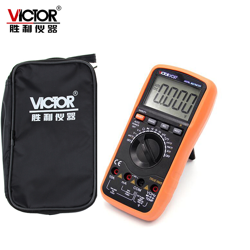 VICTOR VC97 Professional True RMS Auto Range 4000 Counts Resistance Capacitance Frequency Temperature Digital Multimeter mastech ms8260f 4000 counts auto range megohmmeter dmm frequency capacitor w ncv