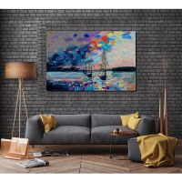 AZPRTLI Frameless Pictures 100 Hand Painted Modern Abstract Oil Paintings On Canvas Wall Art Pictures Home