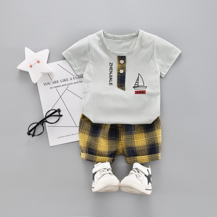 Child Women Boys Garments Set Summer time 2019 Cotton Informal Children Outfits Shirt + Pants Child Youngsters Clothes Set 1 2 three four Years Clothes Units, Low cost Clothes...