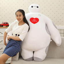 [ Funny ] Large size 60cm~180cm love Big Hero 6 super loving heart Baymax stuffed Plush toy Full fill doll model kids baby gift