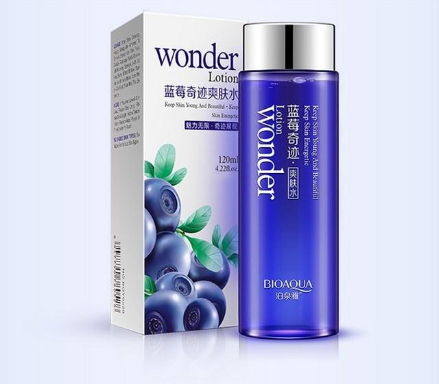 Blueberry BIOAQUA facial Hidratante piel de tóner 120 ml de control de aceite reducir los poros maquillaje cuidado de la cara Esencia del agua