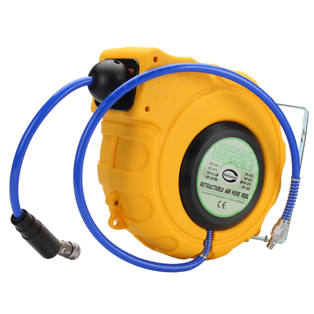 cheap high quality hp815 8x12mm 15 m power auto rewind air hose reel automotive - Retractable Hose Reel