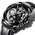Cadisen Многофункциональный Авто Дата Военная Спортивные Часы Мужчины Водонепроницаемый Нержавеющей Стали Кварцевые Часы Мужчины армия Часы relogio mascul