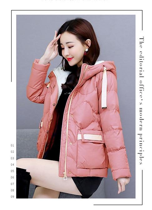 Femelle Manteau De Nouveau Petit blanc Mode Courte D'hiver Coréenne Vent Épaissie Rembourré fuchsia 90246 Parfumé rose Noir 2018 Version Étudiant Veste POxqHtXn5