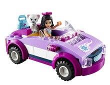 BELA Друзья Серии эммы Спортивный Автомобиль Строительных Блоков Классический Для Девочки Дети Модель Игрушки Marvel Совместимость Legoe