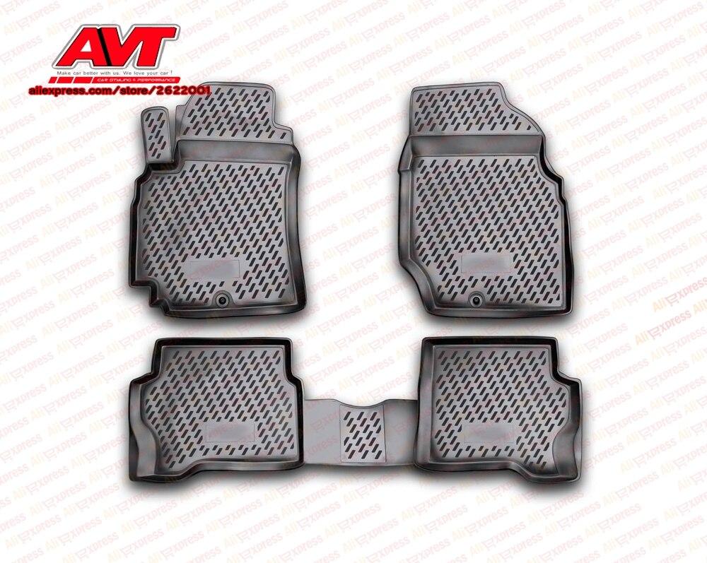 Tapis de sol pour Nissan Almera Classic 2006-4 pcs en caoutchouc tapis antidérapant en caoutchouc intérieur car styling accessoires