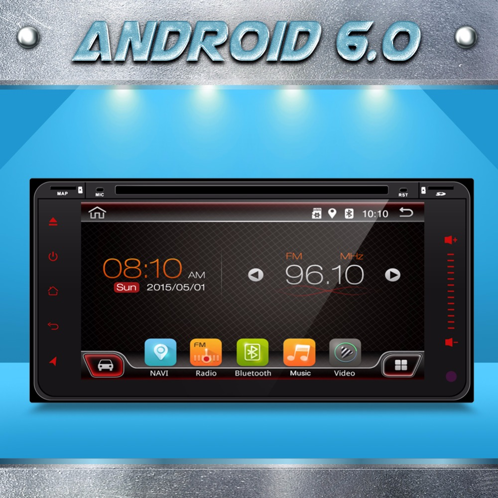 Quad Core HD 6.95 Double 2 Din Android 6.0 Car DVD GPS Navigation For Toyota Corolla Car Radio Stereo Head Unit