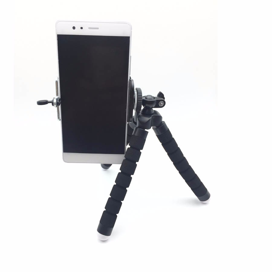 YIFUTE 5in1 10x Zoom Macro Fish Eye Lens Wide Angle Macro Lenses with Tripod Clip on For iPhone 7 plus Samsung LG phone Holder 6
