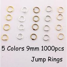 YAGE 9*1.0mm 1000pcs 5 Color Iron Jump rings,Gold,Rhodium,Bronze Jewelry Findings for jewelry making