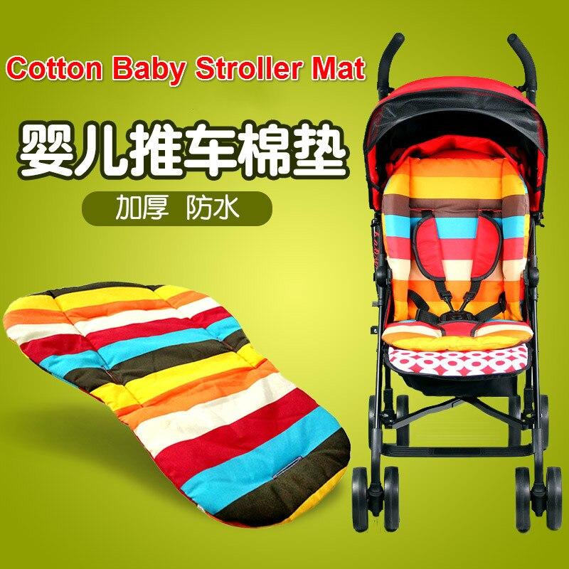 Waterproof Baby Stroller Mattress Rainbow Thickening Stroller Pad Double Side Baby Stroller Mat