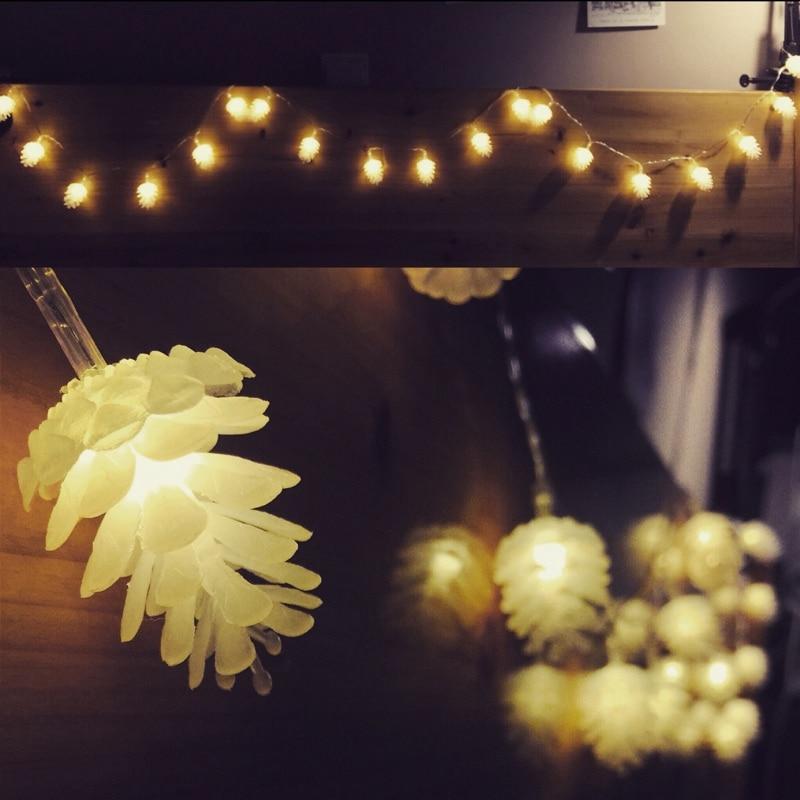 Weihnachtsbeleuchtung Für Balkongeländer.Us 9 15 Wasserdichte Outdoor Led Leuchten String Tannenzapfen Kronleuchter Hof Weihnachtsbeleuchtung Balkon Im Freien In Wasserdichte Outdoor
