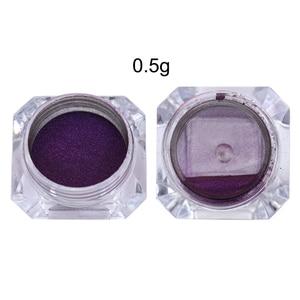Image 5 - זיקית מראה ציפורניים נצנצים אבקת 0.5g כרום פיגמנט נייל אמנות קישוט שחור בסיס צבע צורך
