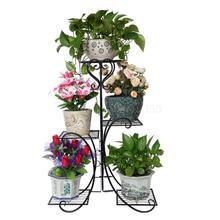 Европейский кованый Цветочный Стенд для помещений, многоэтажная гостиная, зеленая Цветочная стойка, напольный Балконный цветочный горшок shel