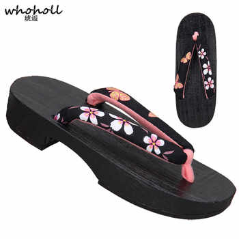 WHOHOLL Traditional Japanese Geta Clogs Summer Sandals Women Flip Flops for Female Paulownia Wooden Shoes Cosplay Costumes Shoes - DISCOUNT ITEM  26% OFF All Category