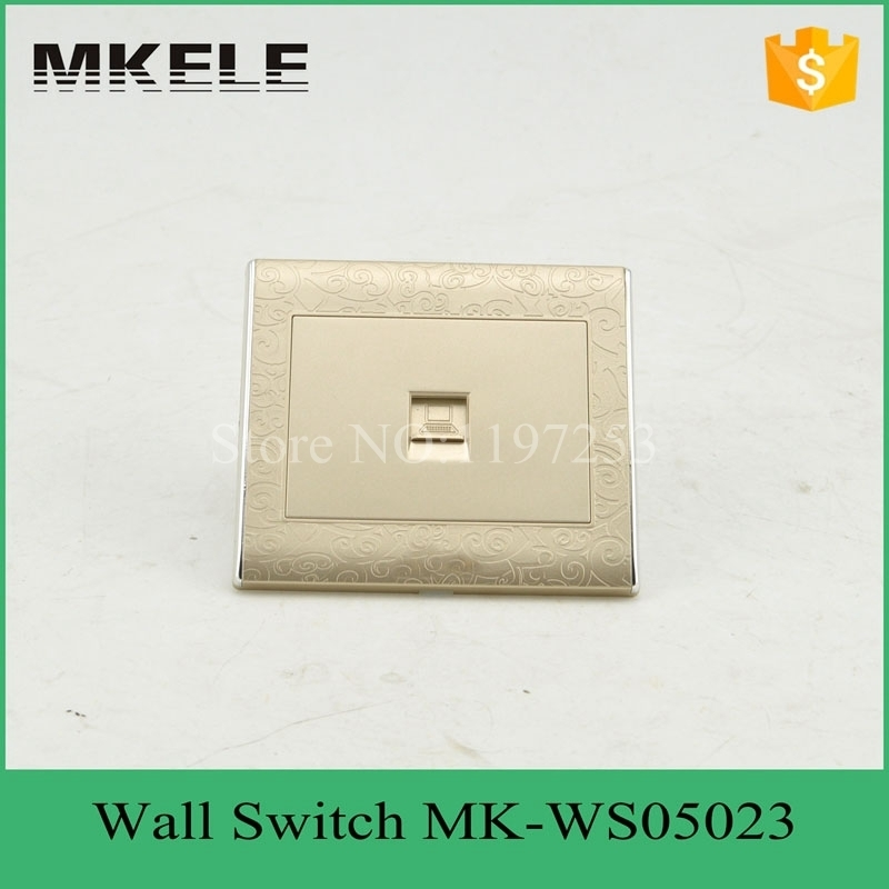 MK-WS05023 2015 hot sale ultrathin new design best price universal electrical wall computer PC socket outlet for office best price 5pin cable for outdoor printer