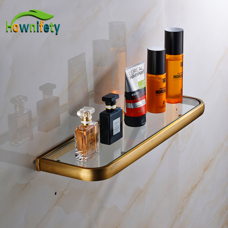 High Quality Solid Brass Bathroom Shelf Glass Holder Bathroom Accesssories Antique Brass Wall Mount high quality solid color letters pattern removeable wall stickers