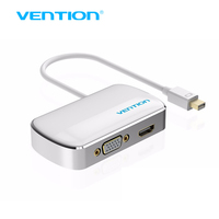 Vention Mini DP 2 In 1 DisplayPort To HDMI VGA Adapter Converter Cable For Apple MacBook