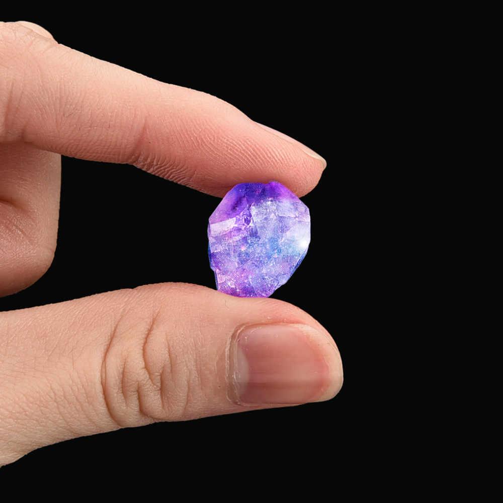 ธรรมชาติคริสตัล Hexagonal Healing Fluorite Wand หินสีม่วงอัญมณีสีม่วง #60