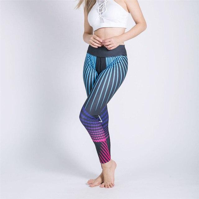 printing Wave point sisal Gradation Ventilation Quick drying pants workout leggings women shein joggers women fitness legging