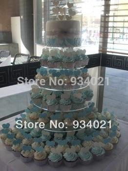 6 уровня акриловые торт стенд, кекс стенд для продажи партии украшения