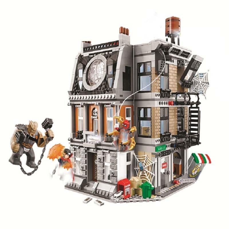 76108 Marvel Avengers Infinity War Sanctum Sanctorum Showdown Iron man Spiderman 1044pcs Building Block Toys Legoings sanctum