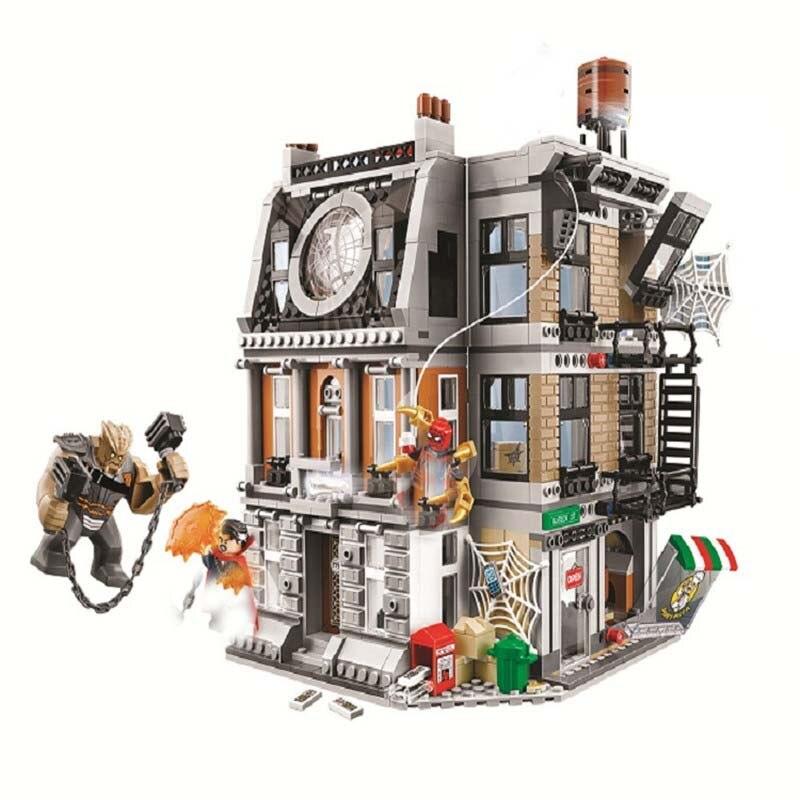 76108 Marvel Avengers Infinity War Sanctum Sanctorum Showdown Iron man Spiderman 1044pcs Building Block Toys Legoings ben 10 молния 12 5 см 76108