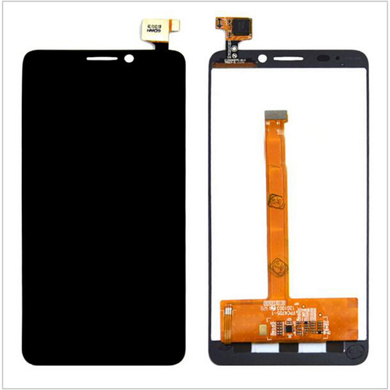 ФОТО Black Touch Screen Digitizer Glass Sensor+LCD Screen 4.7'' For Alcatel One Touch Idol S OT-6034R 6034Y 6034 OT-6035R Replacement