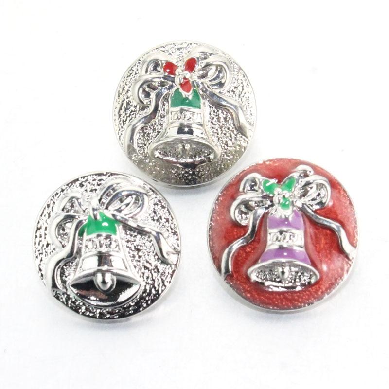 cd6bce37223 Presente de natal Papai Noel sino 18mm botão de pressão de metal relógios  de Pulso para mulheres pulseira talão jóias um direction010421