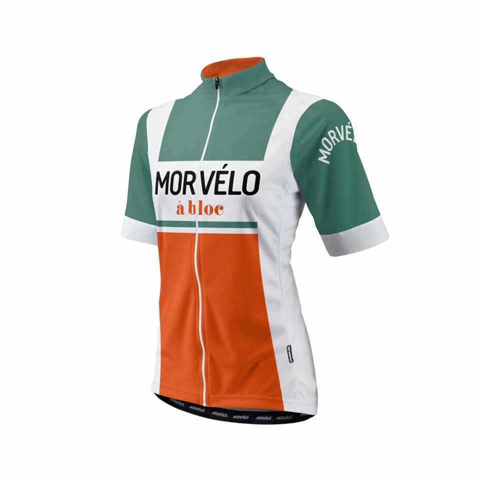 2019 morvelo Велоспорт Джерси Женская Стандартная велосипедная рубашка летние с коротким рукавом мотобайк; велорубашка высокого качества одежда Топ