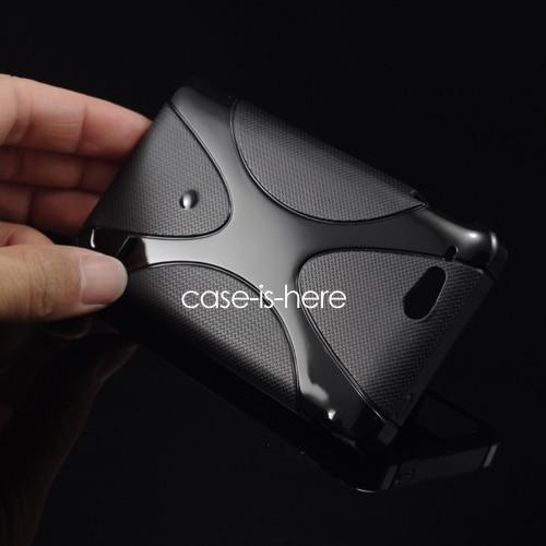 CASEISHERE Soft X-Line TPU Gel Cover Case Skin for Sony Xperia Go ST27i / Xperia advance ST27a