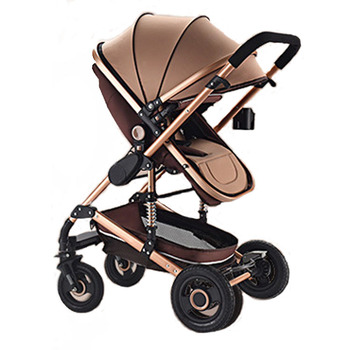 цена на Baby Stroller 3 In 1 Can Sit and Fold Light and High Landscape Two-way Newborn Shock Absorber Baby Sleeping Basket Baby Carriage