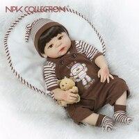 NPK Полный Силиконовые Винил Тела куклы младенцы reborn мальчик Мягкий силиконовый винил настоящая нежное прикосновение bebe reborn новорожденного
