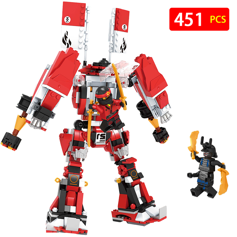 Compatible with LegoINGLYS Ninjagoed Movie Fire Mech Model Anime action figures Building Blocks Bricks Toys for children spinning flying ninja movie gyros zane cole nya lloyd action figures building toys gifts compatible legoinglys ninjagoinglys