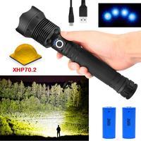 50000 люмен самый мощный светодиодный фонарик XLamp xhp70.2 usb Zoom torch xhp70 xhp50 18650 или 26650 аккумуляторная батарея Охота
