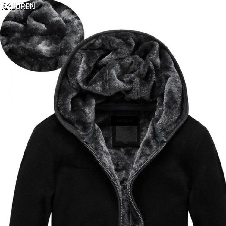 KALUREN livraison gratuite grande taille 4XL 5XL 6XL vêtements pour hommes hiver thermique sweat à capuche en velours sweat manteau marque militaire grand chaud