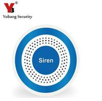 Yobang Security Wireless Blue Siren For Security System YB103 Alarm Panel Wireless Alarm Siren Strobe Siren