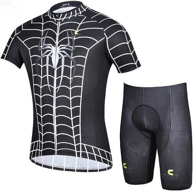 2015 Black Spider Man Bicycle Cycling Clothing Mountain Bike Jersey Road Cycle Men Jerseys Clothes - Easy-E-Trade store