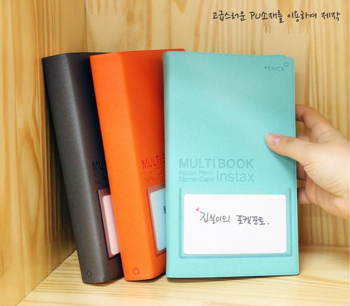 84 Pockets Photo Album Holder Candy Color Book Style Album for 3 Inch Mini Fuji Instax & Name Card 7s 8 25 50s
